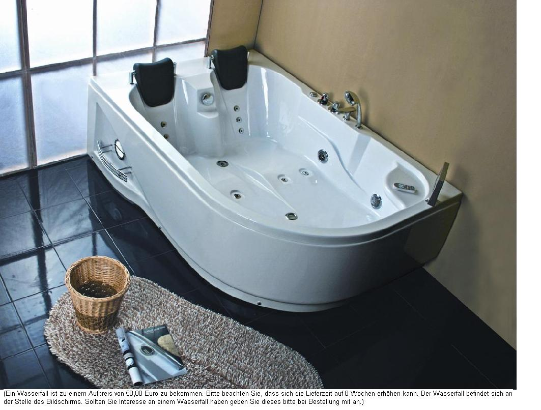 whirlpool badewanne 180x120 luft wasser heizung 31r ebay. Black Bedroom Furniture Sets. Home Design Ideas