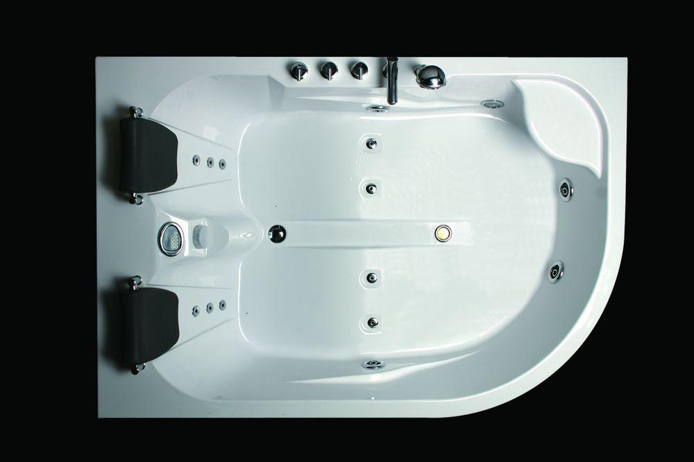 whirlpool badewanne 180x120 luft wasser heizung 31r ebay. Black Bedroom Furniture Sets. Home Design Ideas