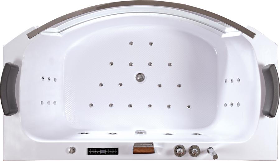 Whirlpool Badewanne 185x100 Luft+Wasser Heizung #64-100