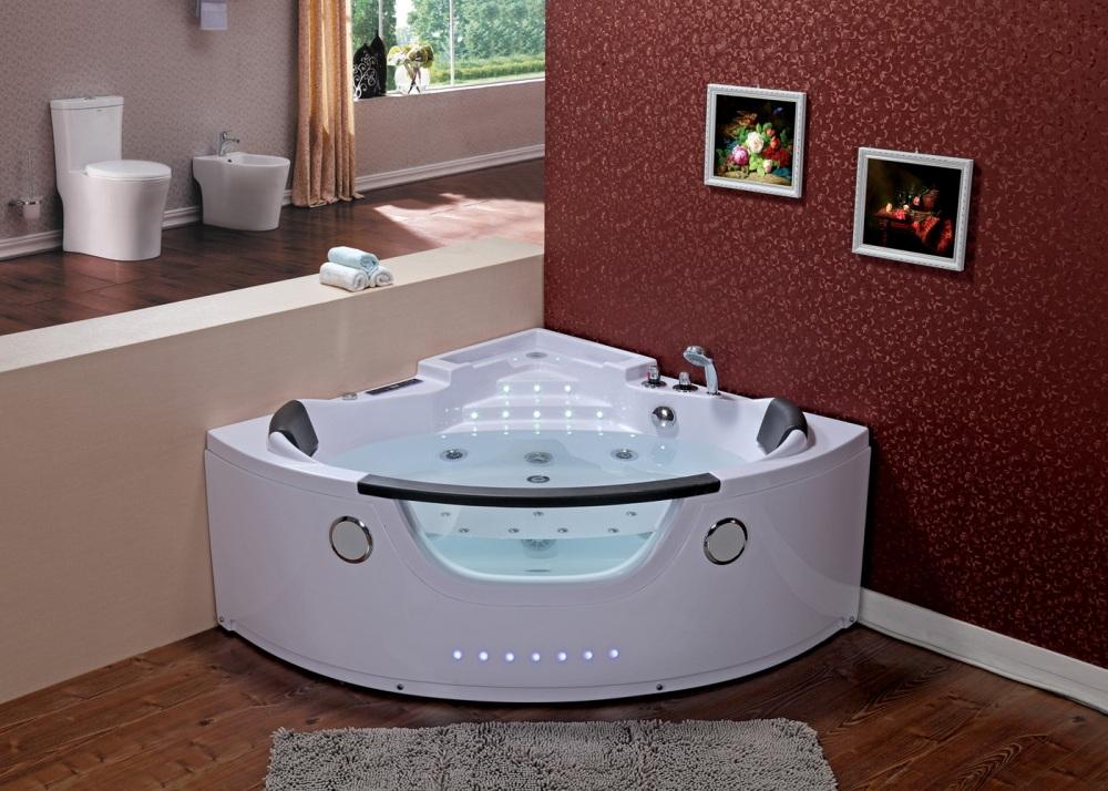 Whirlpool Badewanne 140x140 Luft+Wasser Heizung #78